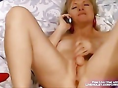 Old slut Nikki seduces young boy by phone