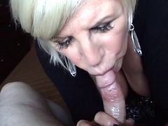 Bedstemor Blondiner Blowjob