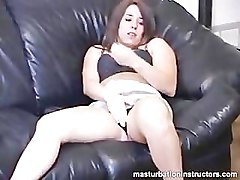 Masturbation teacher teases and humiliates small cocks while demo
