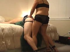 Strapon Wife Using Hubbyand#039;s Ass