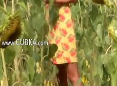 Public russian masturbation in fields