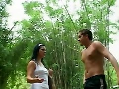 bisexual mmf threesome outdoors
