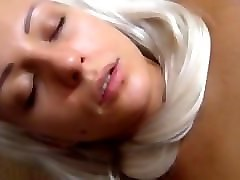 sucking blonde and her vibrator