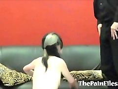 kinky spanking and brutal blowjob of dominated slavesex sub fae corbin