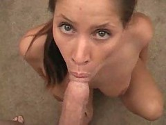 Brunette Blow Job With Facial