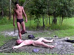bound slave white boy own