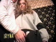 Cute Hairy Russian Teen Takes On Two Guys