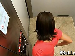 blonde babe sucks and fucks in elevator with brandi belle