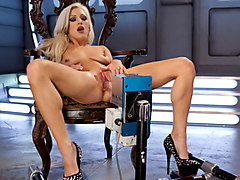 Hottest latina, blonde adult scene with exotic pornstar Cameron Dee from Fuckingmachines