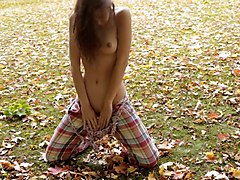 Well shaped teen posing in nature