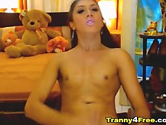 super fit tranny gets it on with hard cock and wet ass