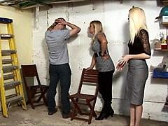 Nice mistressesgive a Spanking in the garage (part 1)
