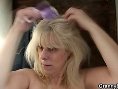 granny fucked from behind in changing room