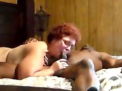 Cuckold amateur granny suck and fuck with black man.