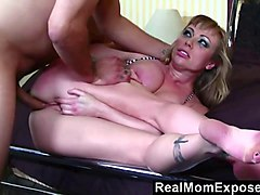 busty blonde milf gets fucked in the ass hard