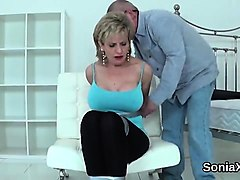 unfaithful british mature lady sonia shows her huge tits