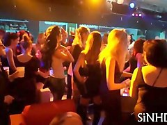 club babes big tits licked by lesbian in night club
