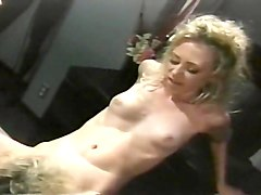 Two Hot Blondes Share One Huge Cock