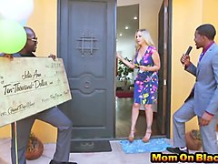 Interracial threesome for Julia Ann