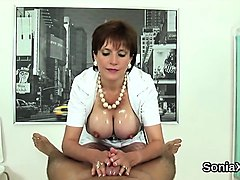 unfaithful british mature lady sonia showcases her monster m