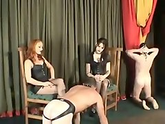 Spanked  strapped and caned