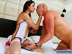latin tgirl stefany santos suck cock is asslicked and analed