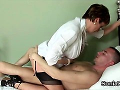unfaithful british mature lady sonia displays her big boobs