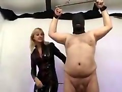 Mistress torture balls and cock