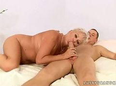 Chubby grandma fucking with a boy