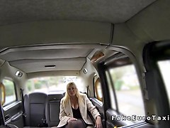 Huge tits Milf anal fingered in fake cab