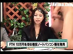 cumming on japanese news girls
