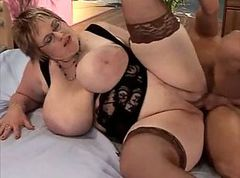 Fat old with big tits fucked