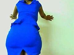 i take my sexy blue dress off and expose my mesmerizing big ass