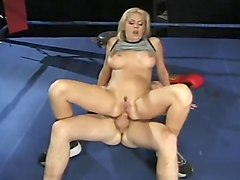 Blondie is a versatile whore in the ring