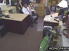 straight amateur old man fucked the pawnshop owner ass and sucked his cock