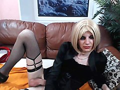 Charlize Crossdressing Cum