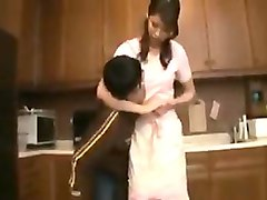skinny asian housewife has a young man licking and fingerin