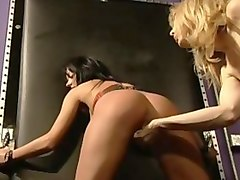 Best pornstars Melissa Lauren and Nina Hartley in horny lesbian, dildos/toys sex scene