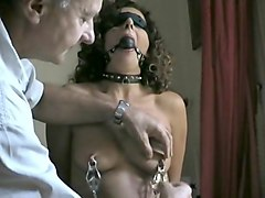 Chained nipple rings