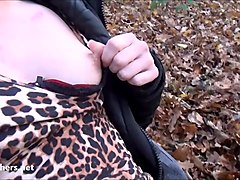 Amateurs public blowjob and flashing Charlies outdoor oral sex in wild homemade adventures of exhibitionist brunette out