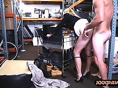hot blonde milf railed by nasty pawn guy in his office