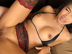Natalie in Thai girl called Natalie gets to moan while riding a massive cock - TeenThais