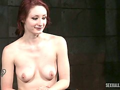 naughty white cute redhead facefucked hard with bbc