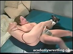 blonde kandi fights and fucks katz on academy wrestling