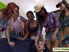 College Orgy Interracial Small Tits