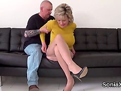 adulterous british mature lady sonia showcases her heavy puppies
