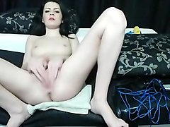 Horny webcam Brunette, Shaved video with SlaveSlutToyyy whore.