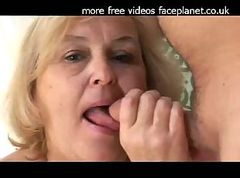 Old granny gets fucked and creampied
