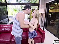 cutie teen lilly gets a bigdick treat from her bf bambino