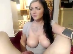 just perfect boobs of my babe and her nice blowjob skills are taped on